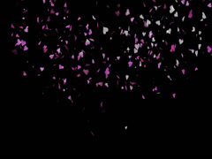 Hearts Particles Romantic Stock Footage