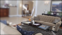 Beautiful living room in a retirement home Stock Footage