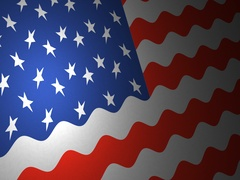 American flag with small ripples Stock Footage