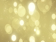 Particles gold glitter bokeh award dust abstract background loop Stock Footage