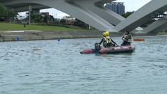 Search and rescue team bitan , new taipei city Stock Footage