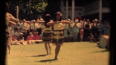 Hawaiian Dancers preforming for tourist Stock Footage