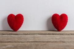 Valentines Day background with hearts. Stock Photos