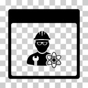 Atomic Engineer Calendar Page Vector Icon Stock Illustration
