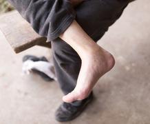 Bare foot man Kuvituskuvat