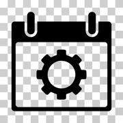 Gear Options Calendar Day Vector Icon Stock Illustration