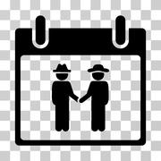 Gemtlemen Handshake Calendar Day Vector Icon Stock Illustration