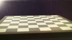 Chess board set up 3D dark (4K) Stock Footage