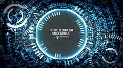 Future Technology Cyber Concept Background. Abstract Security Cyberspace Piirros