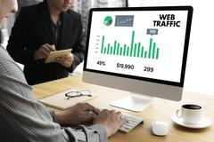 WEB TRAFFIC (business, technology, internet and networking concept ) Kuvituskuvat
