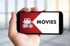 Entertainment Events Digital Media Movie Theater cinema watching Stock Photos