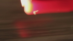 Macro Shot Of The Record Player Needle Hitting A Vinyl Record Stock Footage