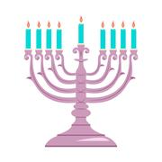 Holiday religion jewish Hanukkah festival of Lights. Stock Illustration
