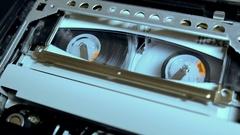 Video cassette 8mm camera Stock Footage