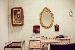 Interior of a dreadlocks shop Stock Photos
