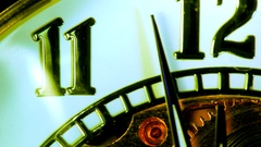 The clock on the background of the dial in close-up. Stock Footage