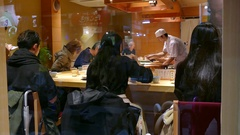 Traditional Restaurant In Kyoto Japan Asia Serving Asian Food Stock Footage