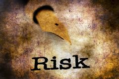 Risk grunge  Stock Photos
