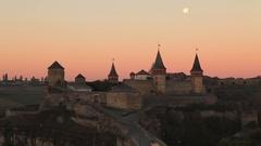 Old Castle. Kamenetz-Podolskyi, Ukraine Stock Footage