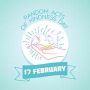 17 February   Random Acts of Kindness Day Stock Illustration