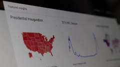 Using google trends Stock Footage