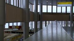 RUSSIA, MOSCOW, SHEREMETYEVO AIRPORT  empty airport duty free Stock Footage