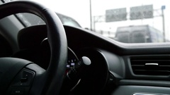 Sterling Whell Driving On Winter Day Stock Footage
