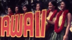 Hawaiian Dancers, spelling hawaii Hula dancers Stock Footage