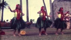 Hawaiian Dancers, dance coordination Stock Footage