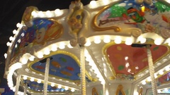 Childrens carousel Stock Footage
