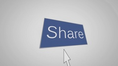 Share and hand cursor Stock Footage
