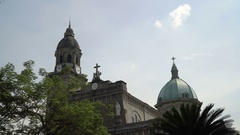 Manila Cathedral, Intramuros Stock Footage