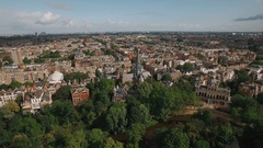 Cityscape of Amsterdam, aerial view Stock Footage