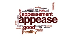 Appease animated word cloud, text design animation. Stock Footage