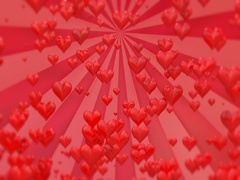 Valentines day red background Stock Footage