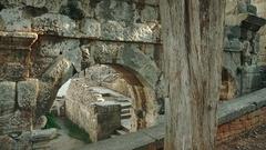 Pula Arena, Roman amphitheater in Pula, Croatia Stock Footage
