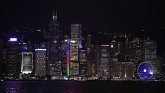Hong Kong show Symphony of Lights, slow motion Stock Footage
