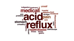 Acid reflux animated word cloud, text design animation. Stock Footage