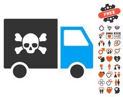 Toxic Transportation Car Icon with Lovely Bonus Stock Illustration