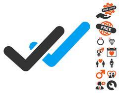 Validation Icon with Lovely Bonus Stock Illustration