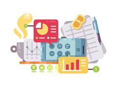 Business intelligence and analysis Stock Illustration
