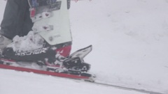 Timelapse ski drag lifts Stock Footage