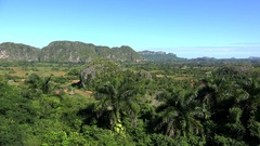 Vinales valley from the  Los Jazmines mirador. Pinar del Rio, Cuba Stock Footage