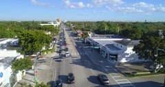 Aerial footage Miami MiMo district Biscayne Stock Footage