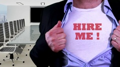 Hire me concept shirt Stock Footage