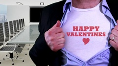 Happy valentines concept shirt Stock Footage