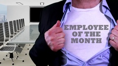 Employee of the month shirt Stock Footage