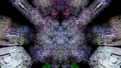 Rorschach imagery forms and flows - Rorschach 002 HD, 4K Stock Footage Stock Footage