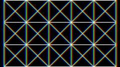 Geometric 3D Stripes On Black Background HD Vj Loop Stock Footage