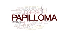 Papilloma animated word cloud, text design animation. Kinetic typography. Stock Footage